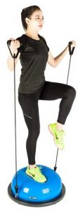 Balance Trainer Half Ball Workout with Resistance Bands
