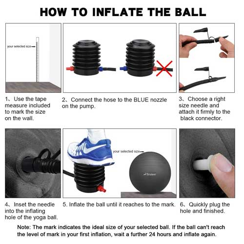 How to Inflate Exercise Ball with Foot Pump