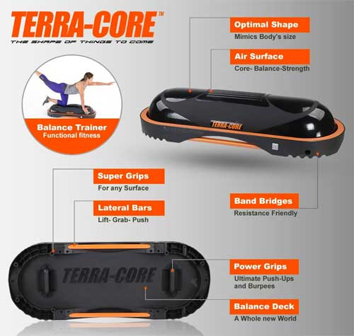 Features of The Terra Core Balance Trainer
